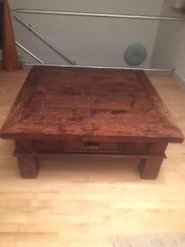 Chunky , Rustic coffee table