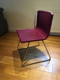 X2 IKEA BERNHARD Leather chairs, purple, excellent condition. RRP. £200 for 2. Selling £80 for both.