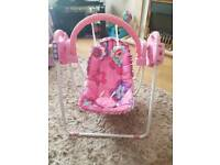 Baby chair from newborn girl