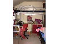 Cabin bed single silver frame needs dismantling