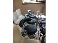 Selection of bar stools available all with Swivel function and footrest some with gas lift