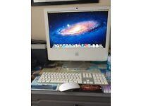 "APPLE IMAC 5.1 20"" SCREEN, KEYBOARD, WIRELESS MOUSE MAC OS X 10.7.5 LION"