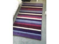 Purple wool rug