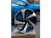 "18"" VW GOLF MILTON STYLE ALLOY WHEELS MK5 MK6 MK7 MK7.5"