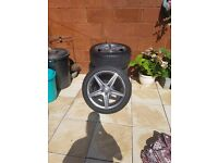 "Genuine Mercedes 18""AMG 5 Spoke Alloy Wheels Inc Tires"
