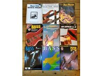 Collection of bass guitar books