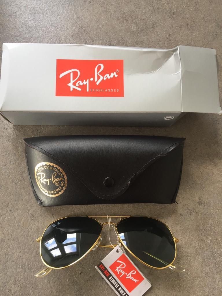 d992293e14 New Ray-Ban Aviator RB3025 Gold Frame Green Lens. Kingswood ...