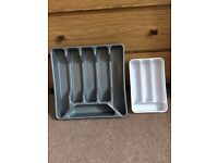 Two cutlery trays
