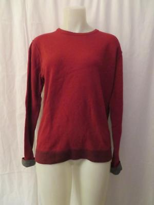 MENS CROSSLEY RED SWEATER TOP W/GRAY TRIM SIZE M