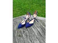Ladies blue suede shoes