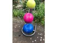 Kettle ball set and stand