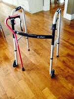 Folding walker and Cane