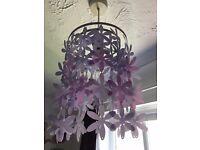 Purple & Lilac Lamp Shade