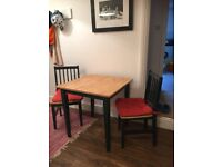 Small square table and chairs