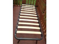 Metal Frame Caravan bed with mattress ---- Small Single
