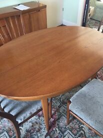 Beautiful teak gplan table and chairs
