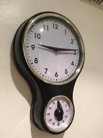 Clock with timer