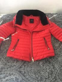 Zara coat-red