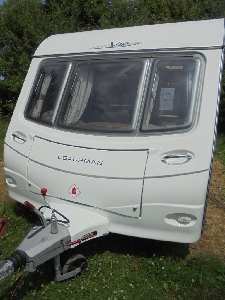 2010 Coachman VIP 4 Berth Touring Caravan With Fixed Bed, Motor Mover & Awning