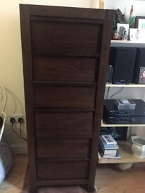 M&S real wood brown chest of drawers excellent condition £133.00