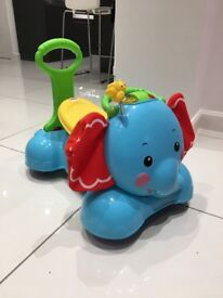 Fisher&Price 3-in-1 Bounce, Walk and Ride Elephant