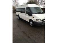 05 ford transit minibus 17seater twin wheeler