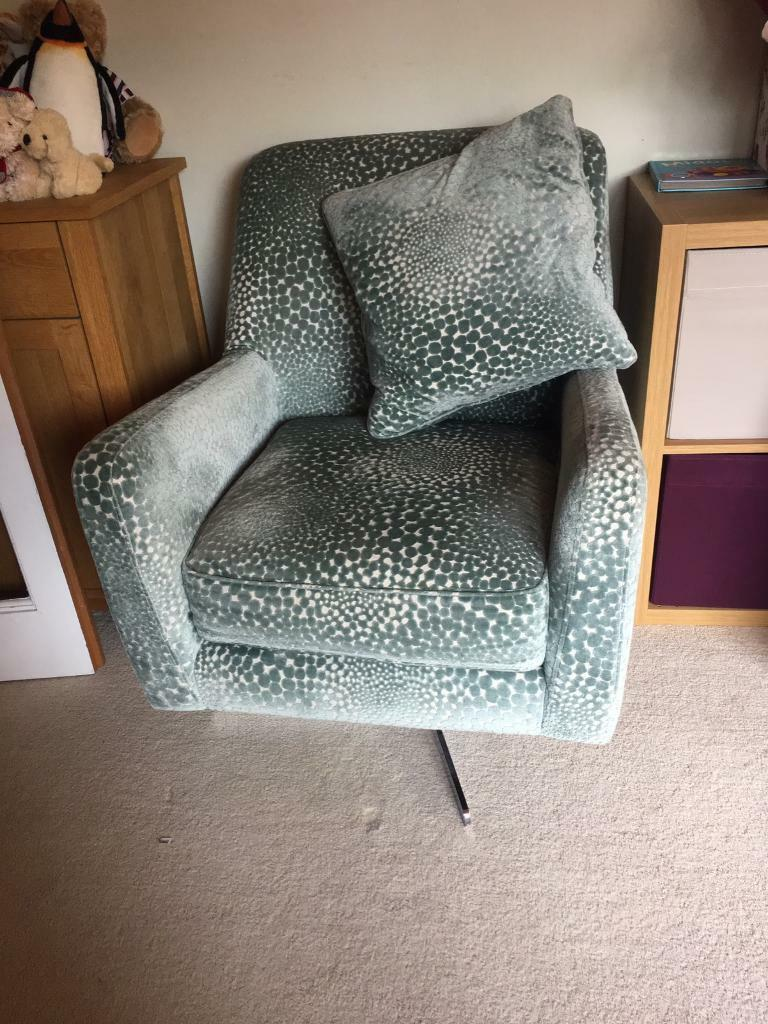sophia patterned swivel chair from dfs 150 in warboys