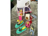 Vintage Polly pocket bundle ,van,Polly on a ski and more