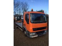 DAF LF45 beaver tail lorry