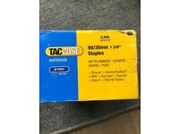 Tacwise 90/35mm Narrow Crown Staples for Staple Gun (Box of 5000) 2boxes