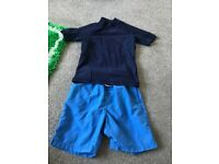 Next boys swim vest and shorts age 8