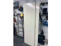 Two white/cream side panels from storage unit 193 cm high / 57 cm wide