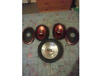 "Car speaker set. 6x9s, 10"" sub and front door speakers"