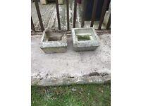 2. Stone planters