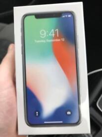 iPhone x silver 64gb sealed unlocked