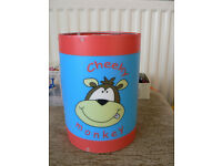 cheeky monkey lampshade good condition
