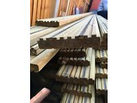 Non slip decking boards 4.8m x 145mm x 28mm redwood