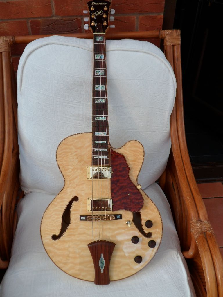 Ibanez AF125 NT Electro-Acoustic Excellent Condition Hollow Body Guitar