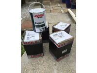 5 unused tins of 5ltr Dove Grey Paint