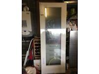 White glass patten 10 internal door