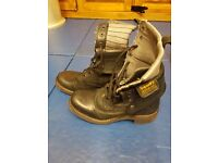 Womens Black Superdry Boots Size 5