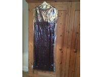 Beautiful Jenny Packham red floor length sequin dress size 16