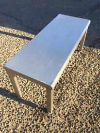 Stainless steel table / bench