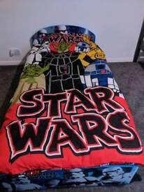 Kids full size single bed star wars