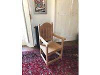 XL Solid Wood Armchair