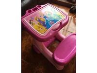 Disney princess colouring table and girls dressing table