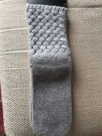 NEW NEXT Ladies Grey slipper socks