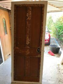 Reclaimed Victorian Internal door (79cm x 196cm 3.5cm)