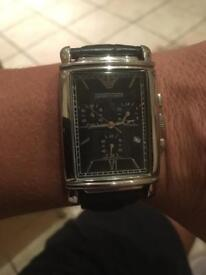 Men's Armani Watch - Black leather strap