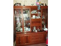 Large display unit storage in base with 3 draws 2 display cabinets with lighting good condition